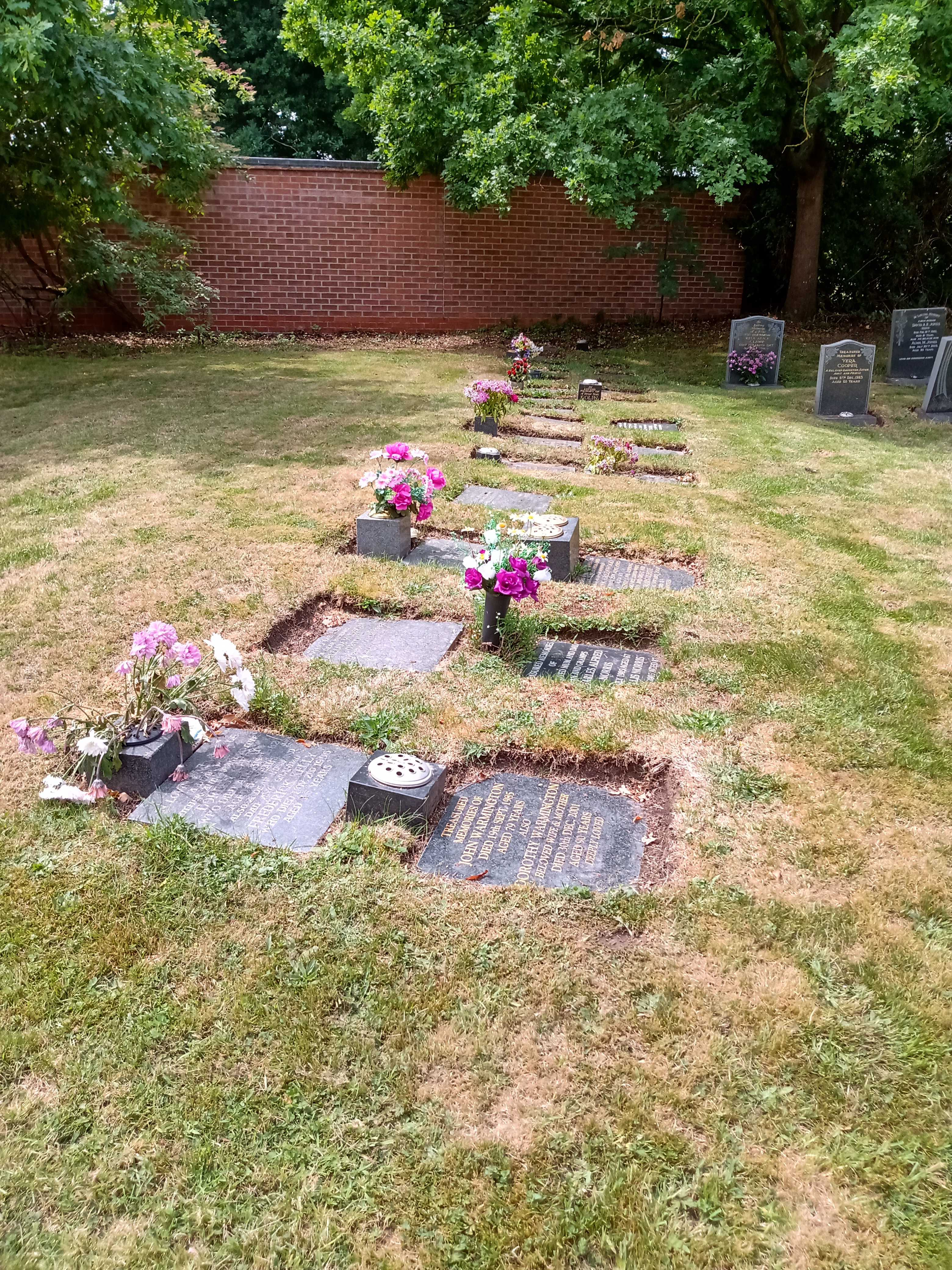Picture of memorial graves stones.