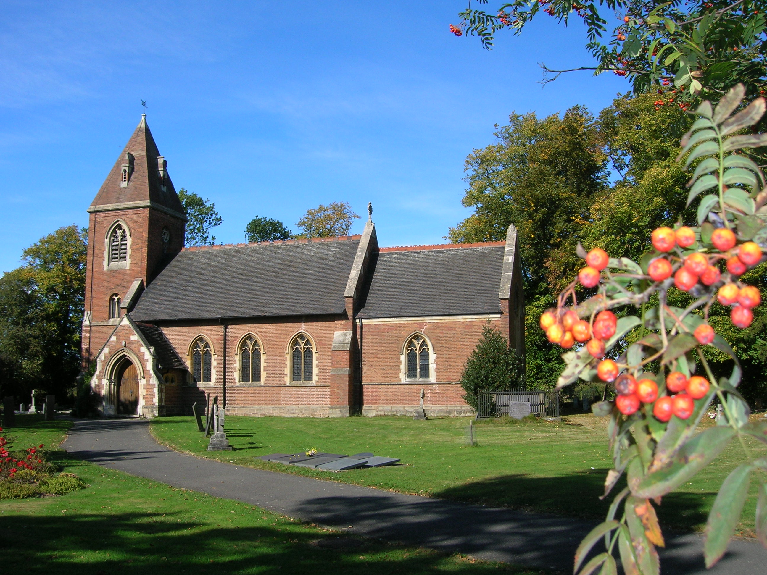 Photo of St James Church on a beautiful blue sky day